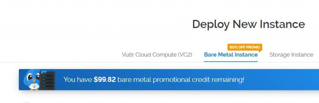 vultr每月赠送100美元