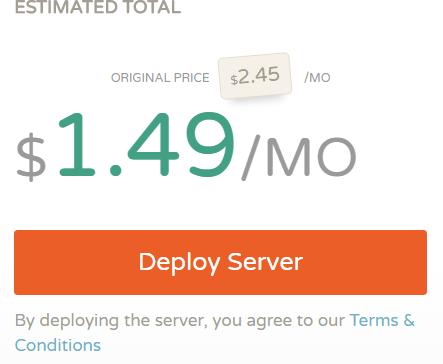 CloudCone限时48小时特价KVM系统VPS,月付1.5美元/256m内存/1T月流量
