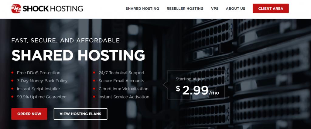 ShockHosting注册及领取5美元的教程:$3.49/月KVM 1G内存1T流量支持支付宝微信,7折优惠码