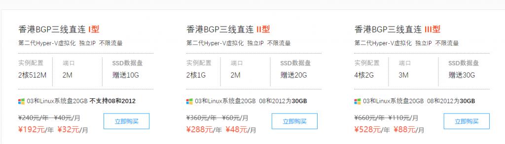 标准互联香港服务器折上折,仅限两天,香港BGP三线直连大陆,年付153元