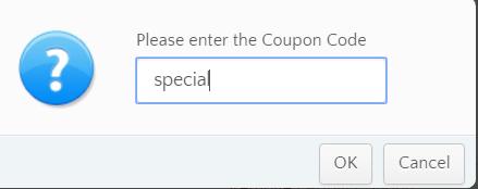 输入优惠码