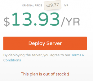 cloudcone年付14美元脱销