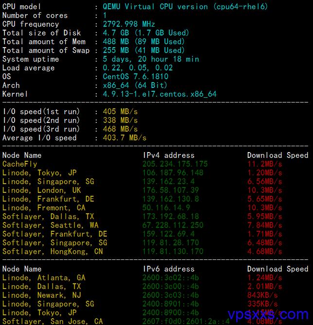hosteons怎么样?hosteons VPS测评:速度快,无限流量还自带DDOS防御 洛杉矶psychz机房