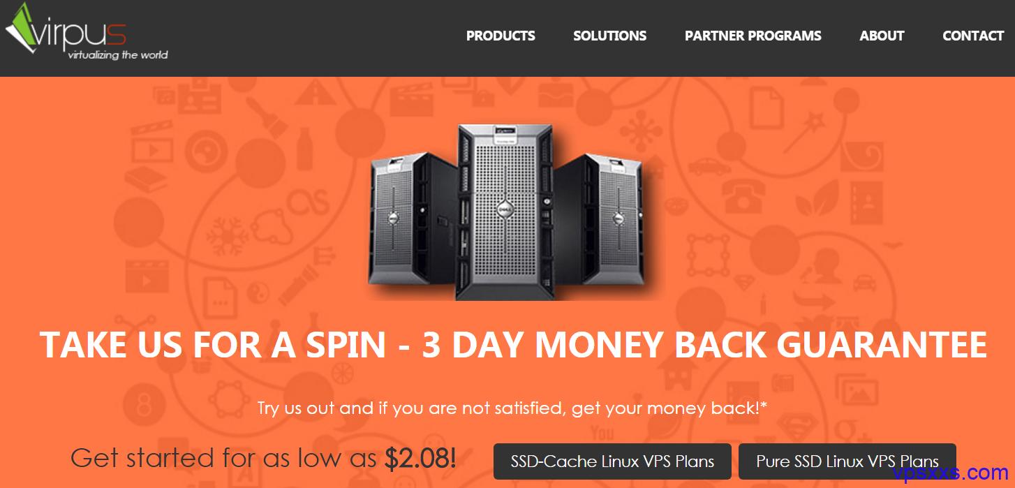 Virpus西雅图VPS三五折促销:2核512M内存/1.5TB流量/XEN/1.75美元 windows月付7美元起