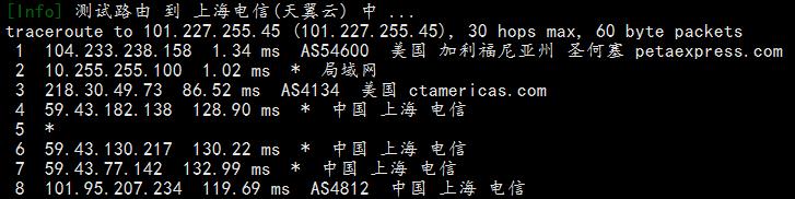 标准互联圣何塞cn2 gia轻量云回程路由