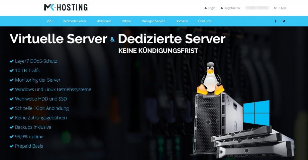 MK-Hosting德国高防VPS闪购:1核1G/10G SSD/无限流量/1Gbps/windows/1.82欧元/月
