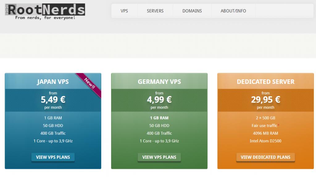 RootNerds日本VPS:1核1G内存/50G硬盘/400G流量/OpenVZ/6.5美元/月 附注册教程