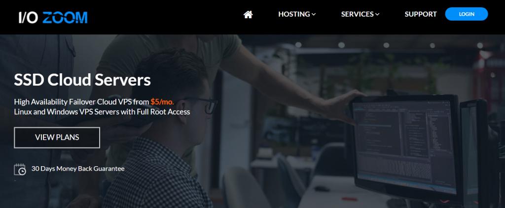 ioZoom洛杉矶云服务器:1核1G/20G SSD/1TB流量/1Gbps/10G DDOS防御/5美元/月 支持支付宝