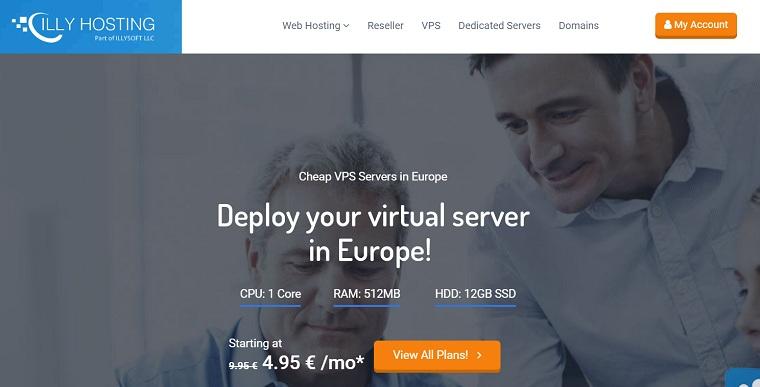 IllyHosting科索沃VPS:1核512M/12G SSD/1TB/1Gbps/windows/4.95欧元/月,20TB流量9.95欧元