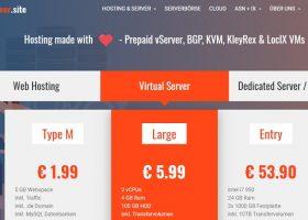 【vServer.site】德国VPS:1核1G/5G SSD/1TB流量/1Gbps/KVM/1.5欧元/月,半年付8折优惠
