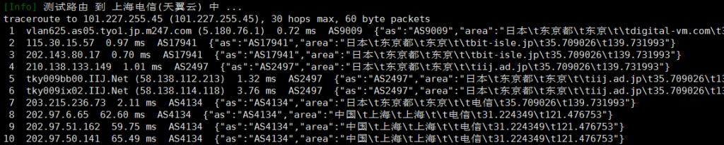 Digital-VM日本VPS电信回程路由
