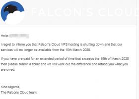 Falcon's Cloud倒闭,记得备份数据+申请退款