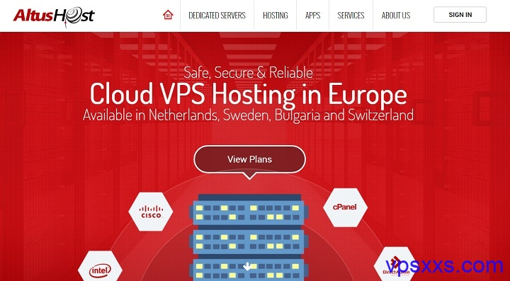 「AltusHost」欧洲VPS全托管服务器八折优惠,荷兰/瑞士/保加利亚/瑞典机房可选,15.96欧元/月起
