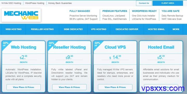 「MechanicWeb」全托管VPS七折优惠:美国达拉斯/洛杉矶NVMe VPS,免费DirectAdmin,14.88美元/月起