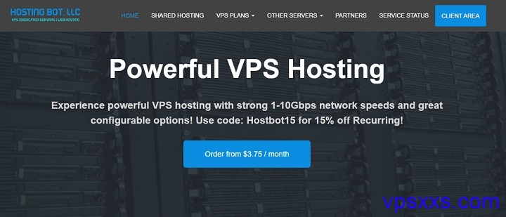 HostingBot:10Gbps带宽/AMD处理器,美国洛杉矶/达拉斯/杰克逊维尔机房,2.06美元/月起