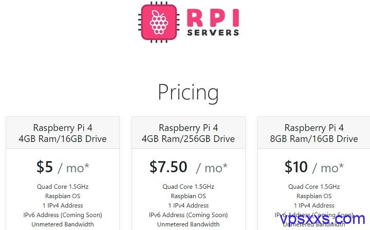 RPIServers美国达拉斯VPS:4核4G/16GB硬盘/无限流量/1Gbps/5美元/月,256GB大硬盘7.5美元/月