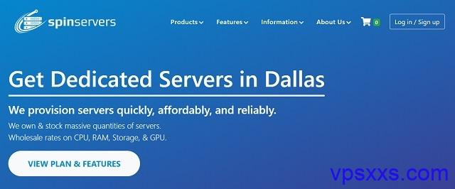 SpinServers农历新年大促销:圣何塞独立服务器,最高10Gbps端口,支持微信/支付宝/paypal
